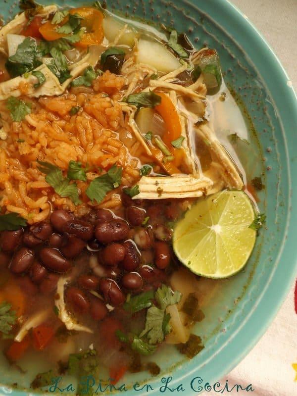 Caldo de Pollo-Mexican-Style Chicken Soup