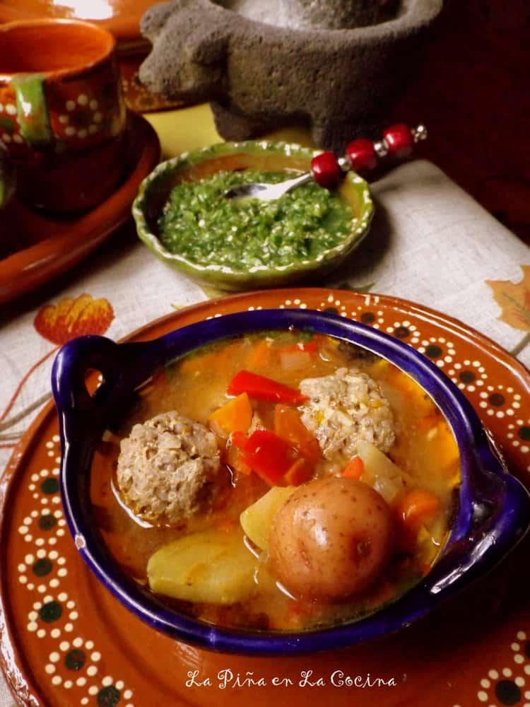 Caldo de Albondigas (Mexican Meatball Soup) #caldodealbondigas