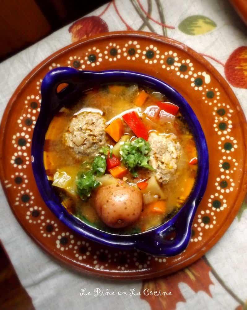 Caldo de Albondigas(Mexican Meatball Soup) #caldodealbondigas
