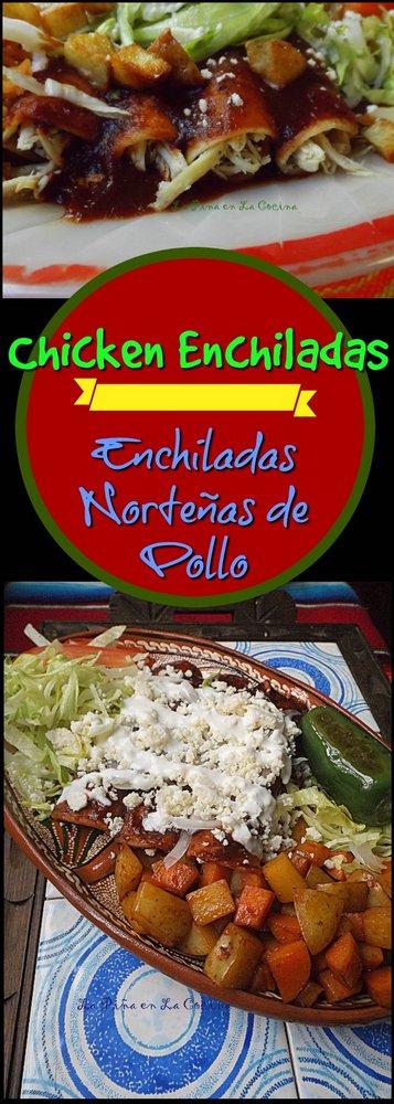 Enchiladas Norteñas de Pollo