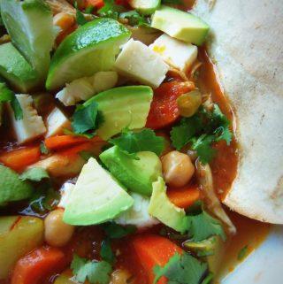 Caldo Tlalpeño (Chicken and Vegetable Soup)