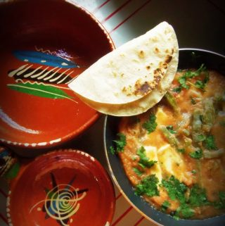 Chile Con Queso y Nopalitos~Mexican Cheese and Cactus in a Warm Salsa