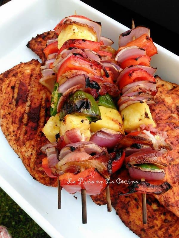 Grilled Chicken-Chile Pulla Adobo Sauce