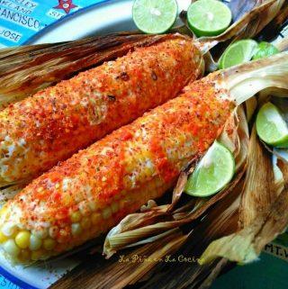 Elotes en El Comal~Easy Mexican-Style Corn