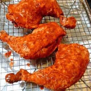 Pollo al Achiote en Caldo de Lima (Achiote Marinated Chicken)