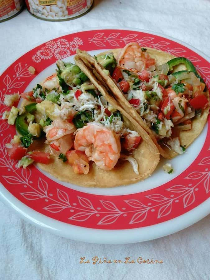 Tequila Lime Shrimp with Crab Avocado Salad