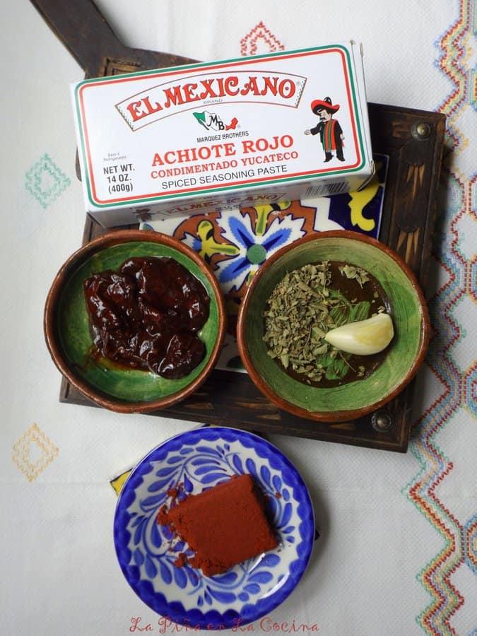 Pollo al Achiote en Caldo de Lima