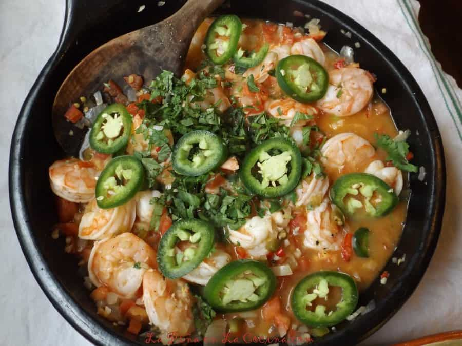 tequila lime shrimp with jalapeno