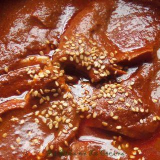 Pollo Almendrado Con Chipotle (Chicken in a Chile Chipotle Almond Sauce)