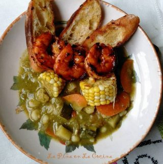 Fire Roasted Green Chile Vegetable Pozole