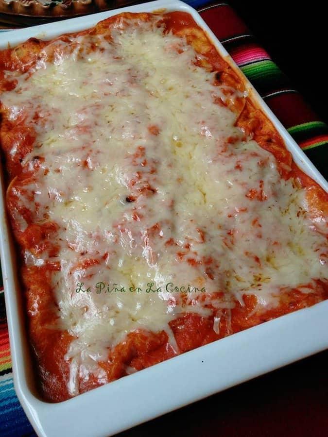Enchiladas Suizas Rojas-Chicken Enchiladas