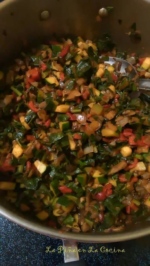 Enchiladas Suizas-Vegetable Filling