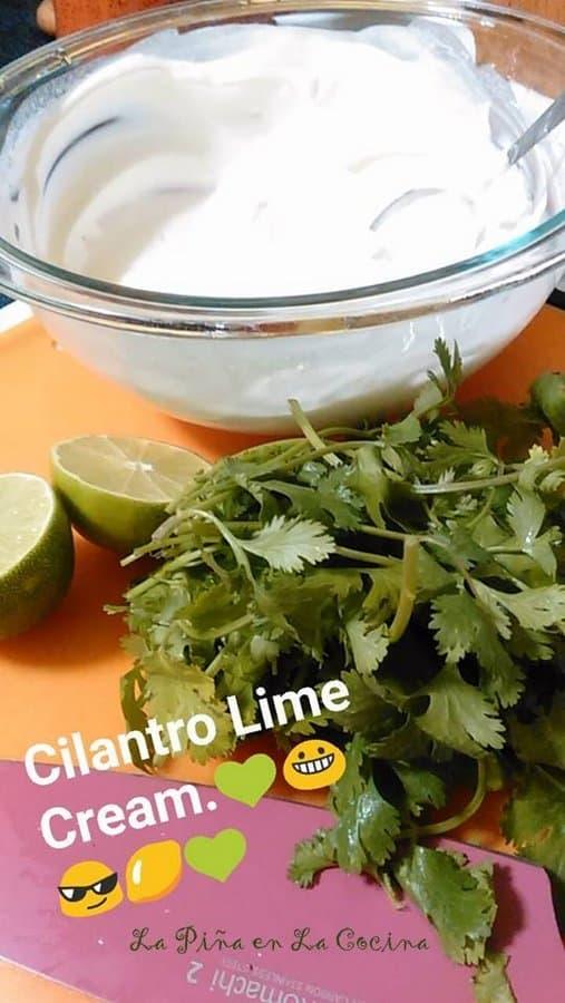 Cilantro Lime Crema