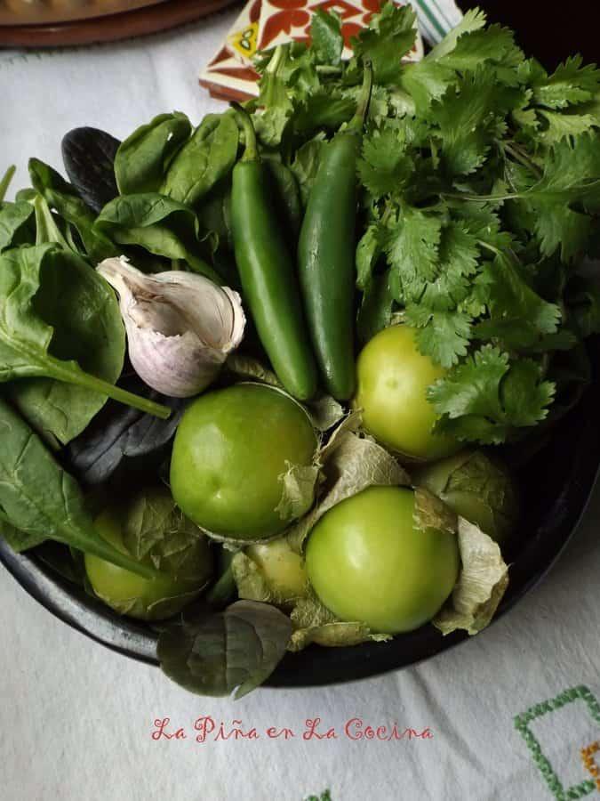 Spinach/Tomatillo Sauce