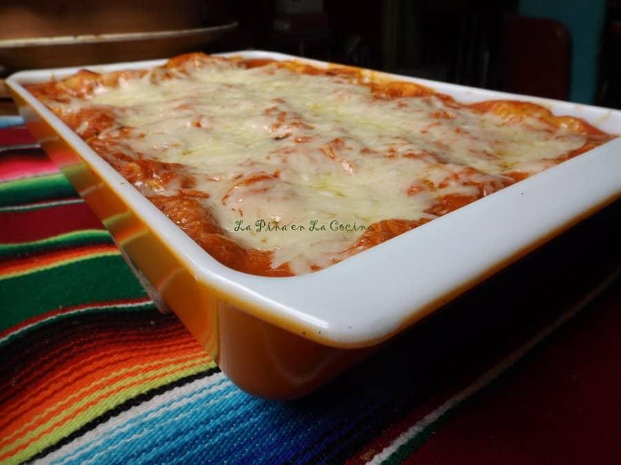 Enchiladas Suizas-Chicken or Veggie Enchiladas