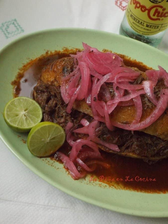 Torta Ahogada de Res(Birria Style Beef Cheek)