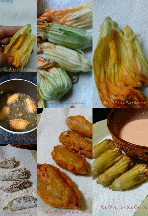 Flor de Calabaza-Cheese Stuffed Squash Blossoms