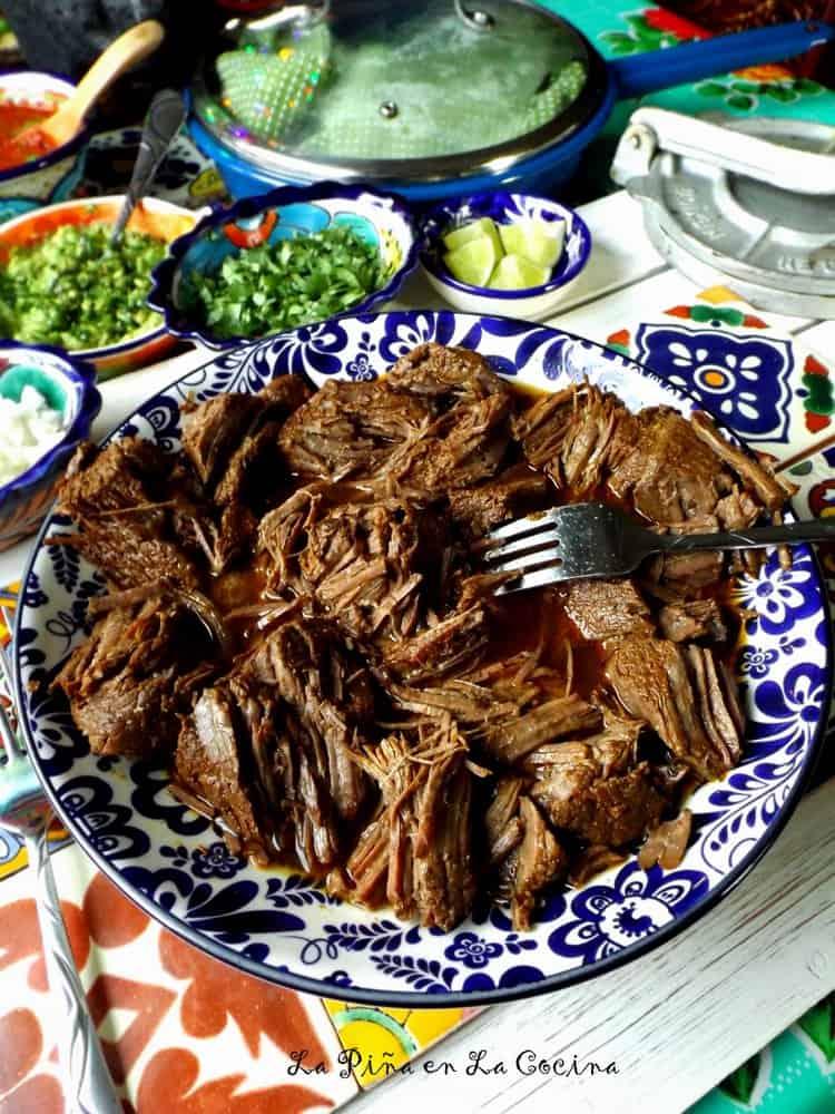 Beer Braised Beef Tacos #beeftacos #slowcookerbeef
