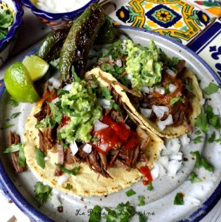 Beer Braised Beef Tacos with Toasted Chile de Arbol Salsa