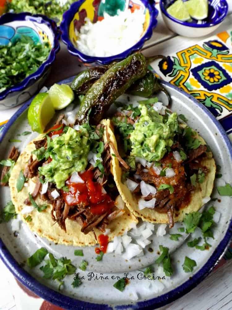 Beer Braised Beef Tacos #beeftacos #slowcooker