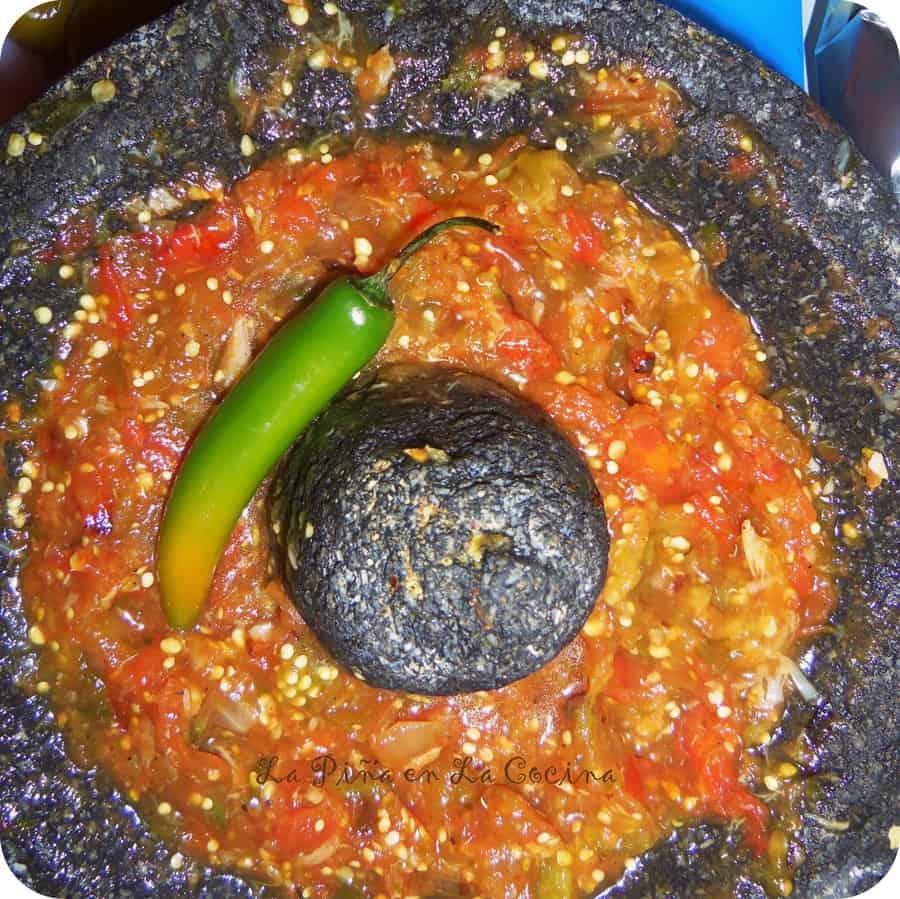 Salsa Molcajeteada-Roasted Salsa