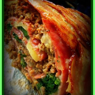 Rollo de Carne Con Tocino~ Bacon Wrapped Stuffed Meatloaf