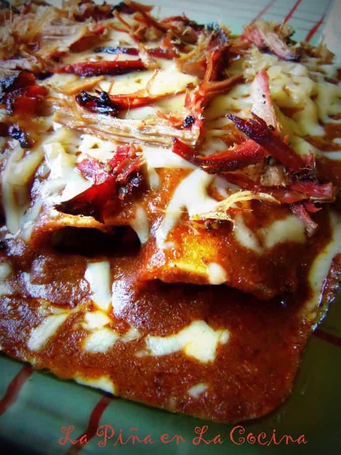 Brisket Enchiladas With ztexas-Style Chili Gravy