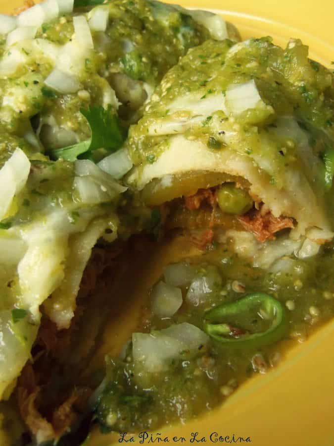 Chile Relleno Chicken Enchiladas