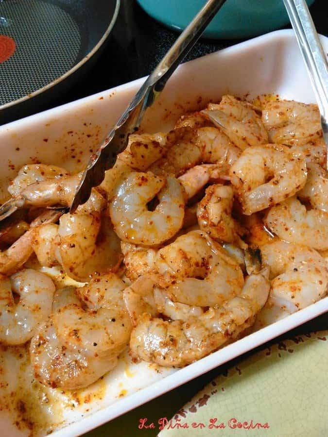 Chiles Acapulco-Shrimp Stuffed Poblanos
