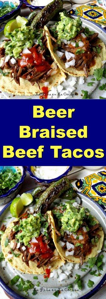 Beer Braised Beef Tacos #beeftacos #pressurecooker