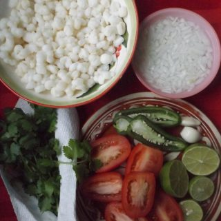 Hominy Pico de Gallo~ Salsa de maiz Pozolero