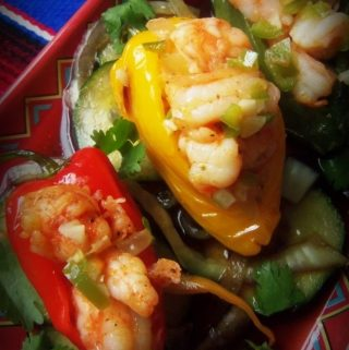 Shrimp Stuffed Chiles~ Chiles Rellenos de Camaron