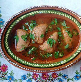 Pork Tamal Dumplings in a Spicy Broth