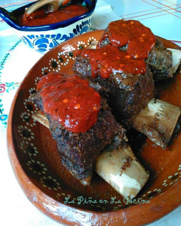 Beef Short Ribs With Toasted Chile de Arbol Salsa