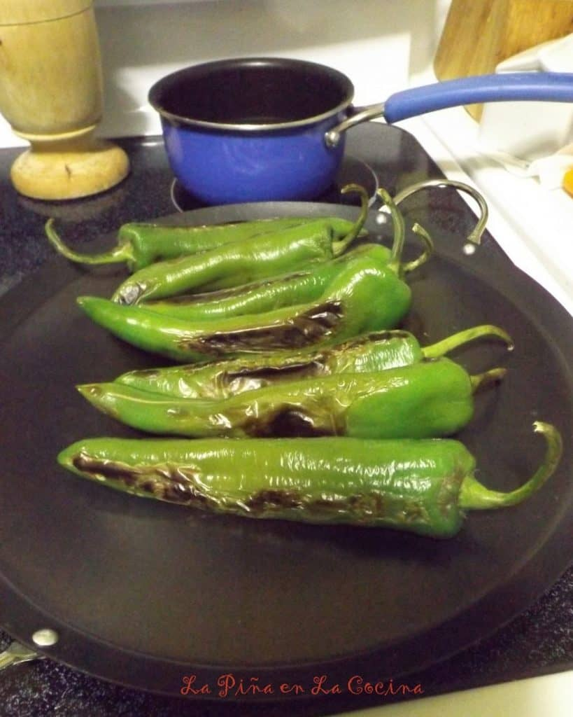 Dry Roasted Green Chiles