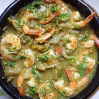 Shrimp Chile Verde (Camarones en Chile Verde)