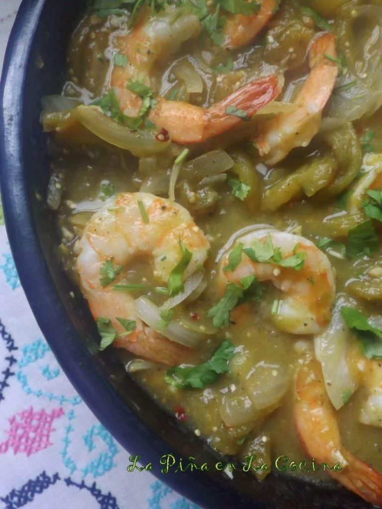 Chile Verde Shrimp