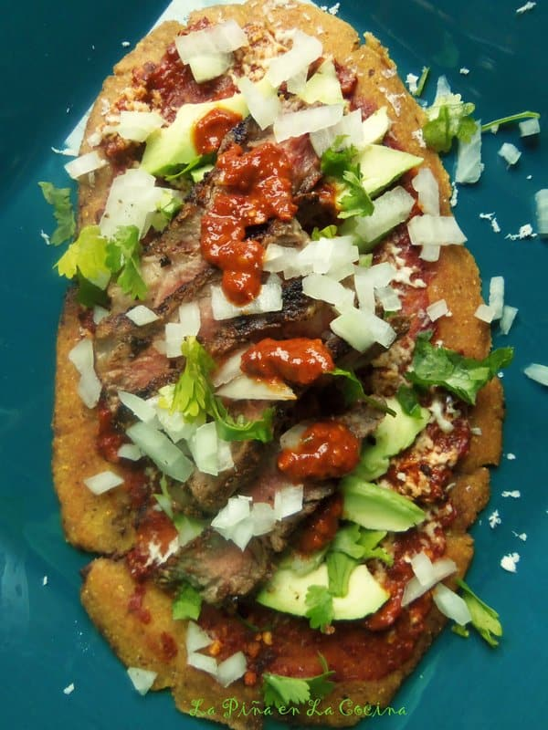 Grilled Steak Huaraches