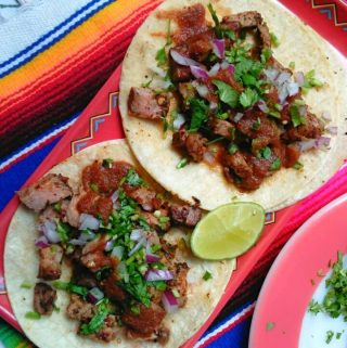Rib-Eye Steak Tacos with Chipotle Salsa/Sauce
