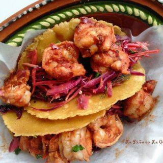 Chile Cascabel Shrimp Tacos