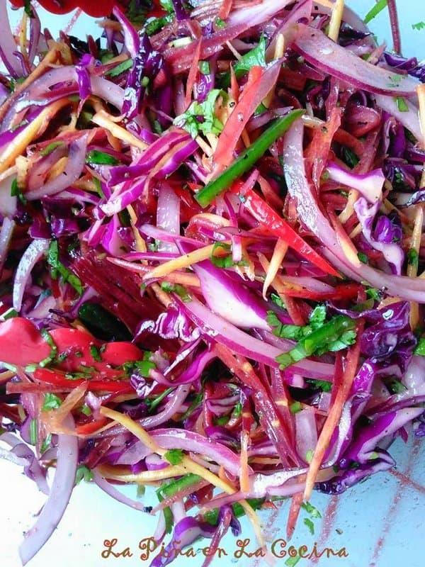 Fresh Red Cabbage Slaw