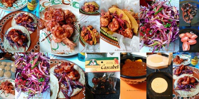 Chile Cascabel Shrimp-Tacos with Slaw