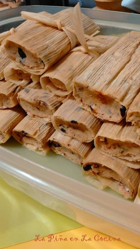 Black Bean, Cheese and Chipotle Tamal