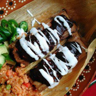 Black Bean,Cheese and Chipotle Tamal