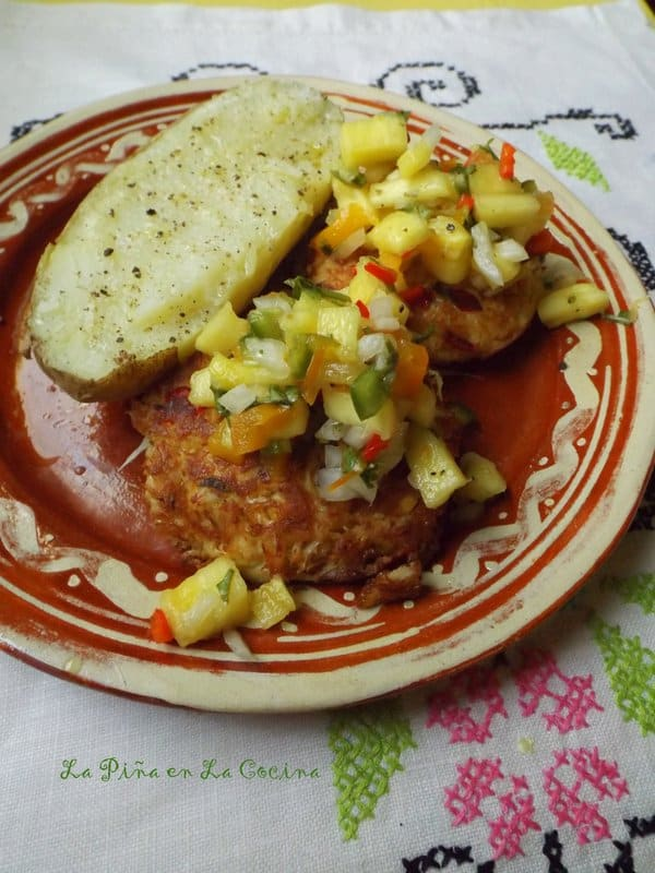 Crab Cakes with Pineapple Salsa