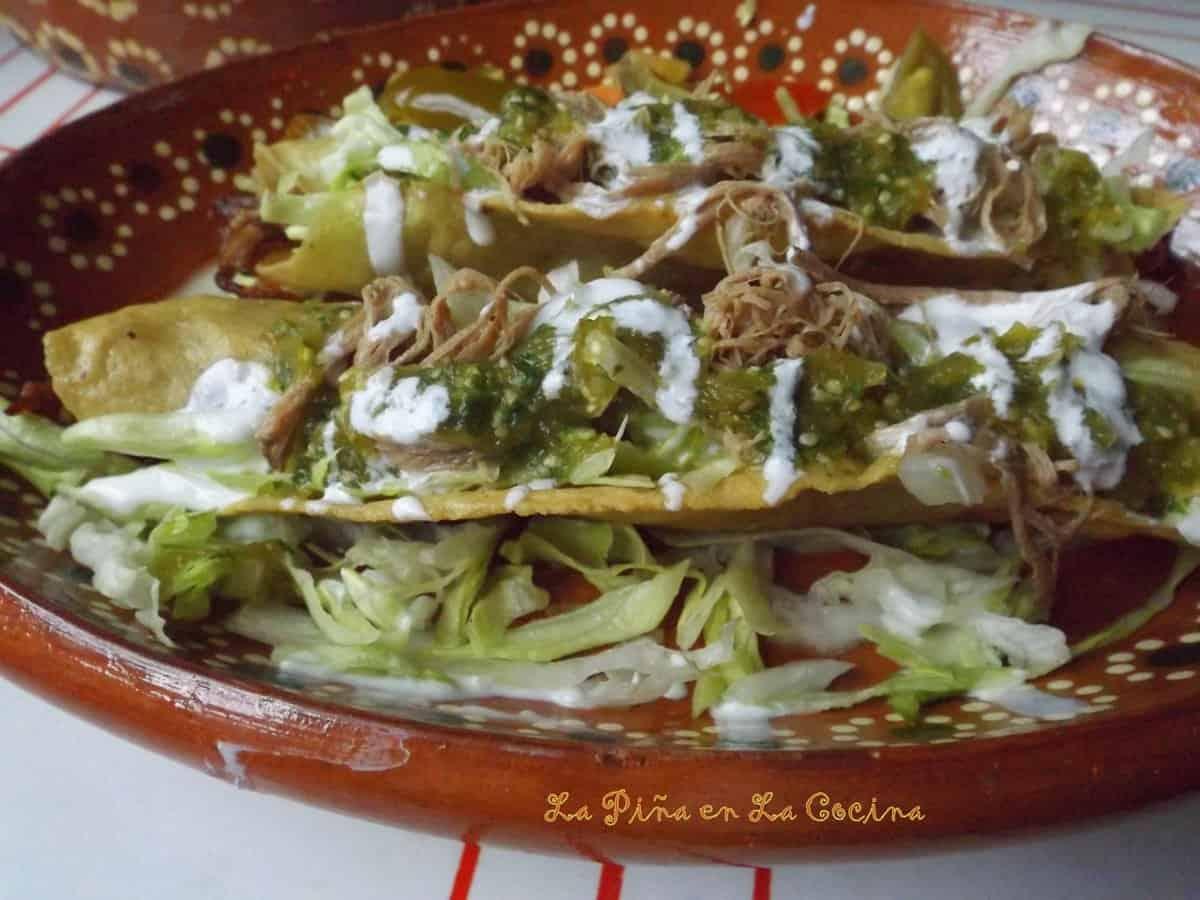 Flautas Estilo de La Romero Rubio-Shredded Brisket Flautas