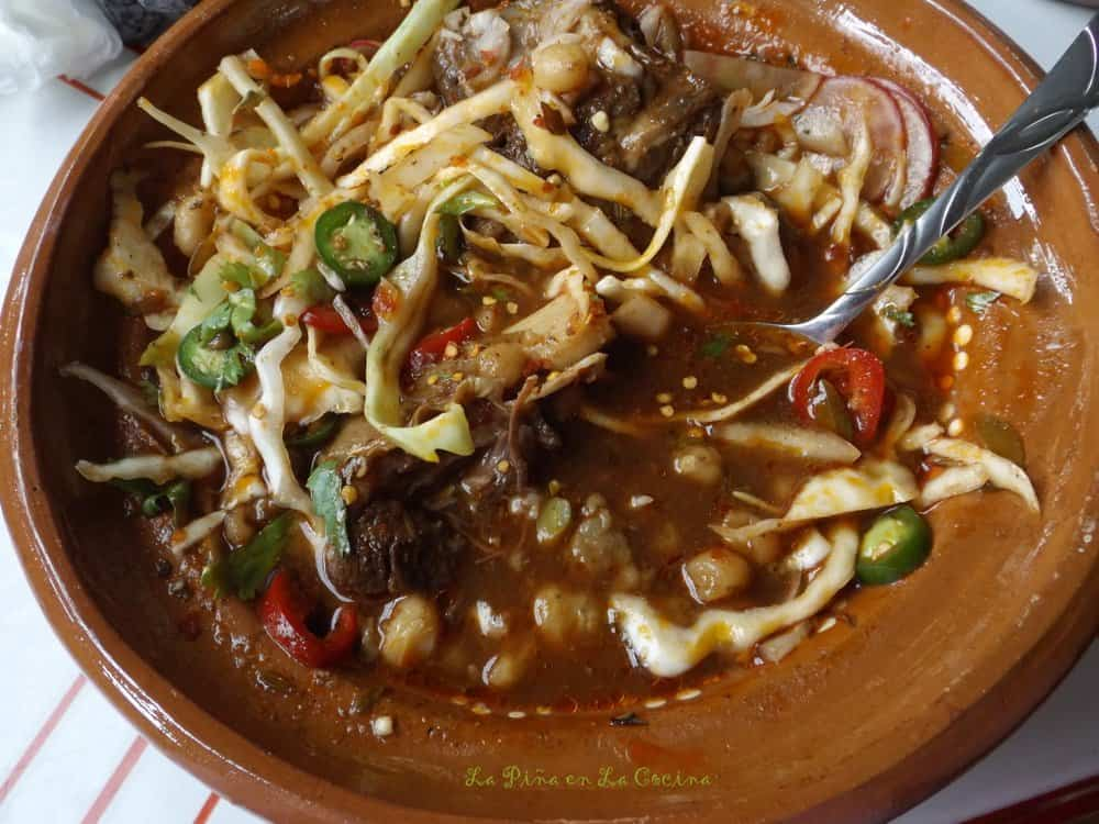 Red Chile Beef Pozole-Pozole de Res