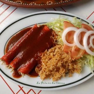 Basic Chicken Enchiladas (Enchiladas de Pollo)