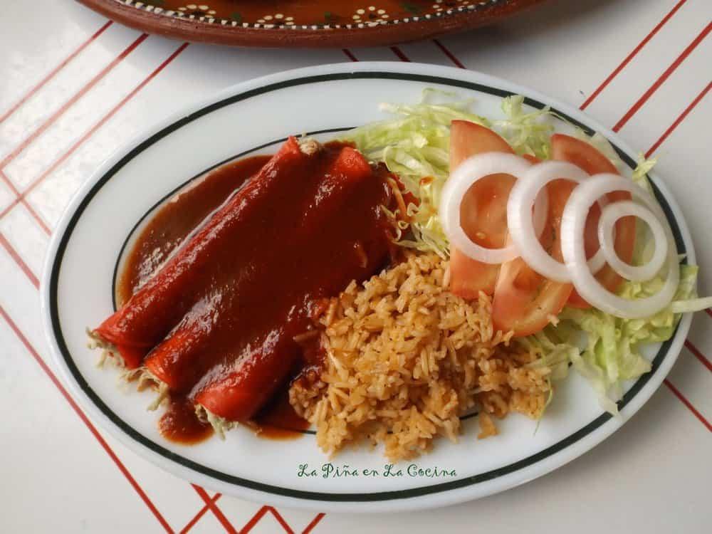 Enchiladas de Pollo-Chicken Enchiladas