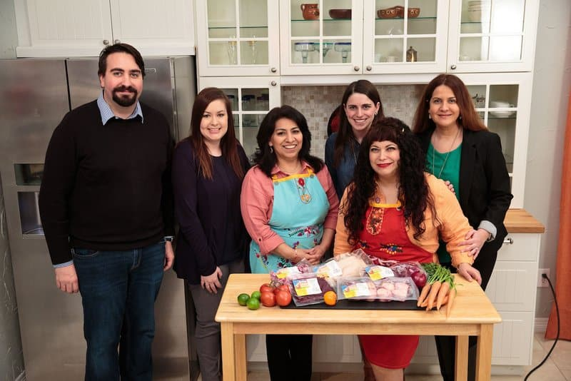 The Rumba Meats blogger meet up of Mely Martinez and Sonia Mendez Garcia at Martinez' home in Frisco, Texas on February 20, 2017.